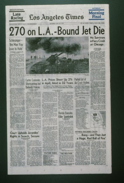American Airlines Flight 191 Crash 1979 Newsroom History